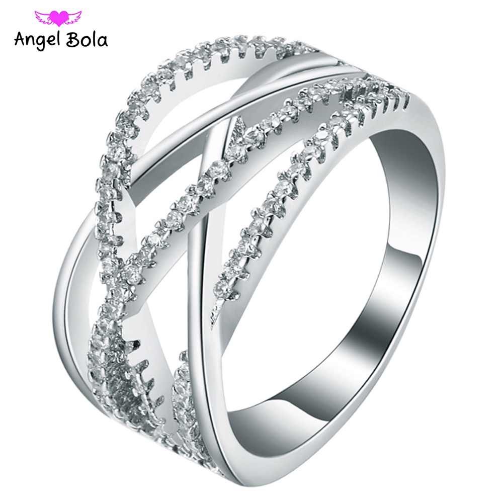 High Quality Cz Sterling Silver Rings