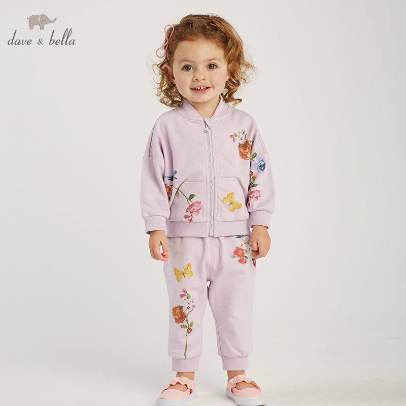 DBJ10301 dave bella spring baby girl fashion clothing sets girls lovely long sleeve suits children floral print clothes DBJ10301 dave bella spring baby girl fashion clothing sets girls lovely long sleeve suits children floral print clothes