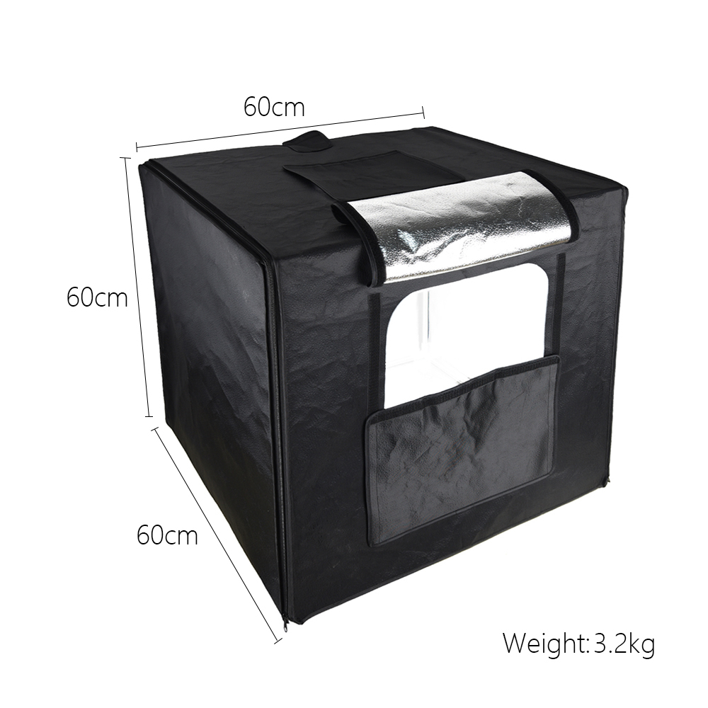 Lower Price with 40 X 40 X 40cm Portable Folding Studio Diffuse Soft Box With Led Light Background Photo Studio Box Big Size For Dslr Camera High Quality And Low Overhead Photo Studio Accessories Consumer Electronics