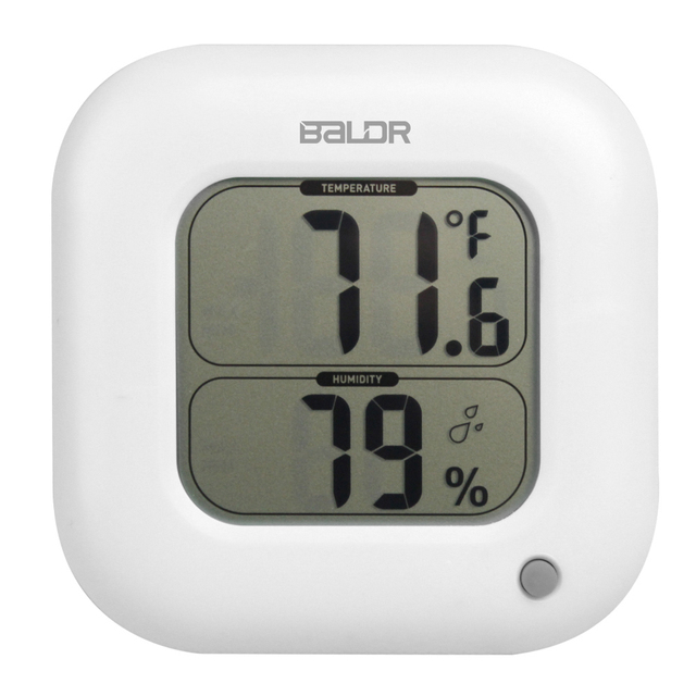 Baldr LCD Digital Thermometer Hygrometer Indoor Wall Max/Min Electronic  Temperature Humidity Sensor Meter Home