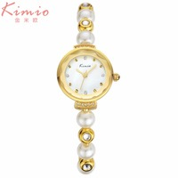 Fashion Women Watches KIMIO Brand Luxury Ladies Quartz Watch Fashion Pearl Bracelet Watches Girl S Waterproof