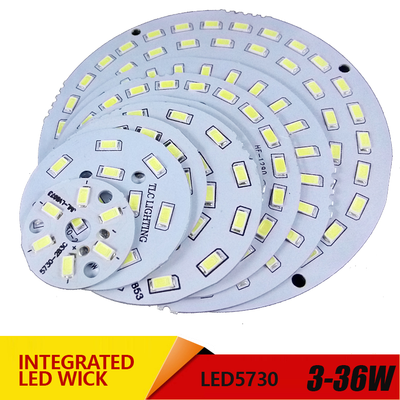 3pcs Led Pcb SMD5730 3w 7w 14w 12w 18w 24w 36w Integrated Pcb Transformation Board  White/ Warm White Light Source For LED Bulb