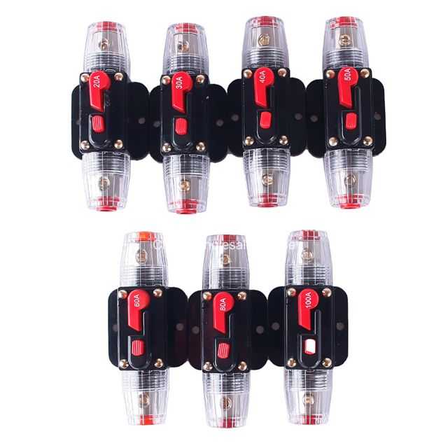 DC 12V-24V Car Auto Circuit Breaker Fuse Reset Inverter 20//30//40//50//60//80//100A