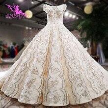 AIJINGYU שמלות כלה לנשים קצר קפלים ארוך סקסי גותי פשוט 2021 שמלת חנויות לקנות כלה שמלות באינטרנט