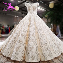 AIJINGYU Women Wedding Dress Wedding Gowns Short Pleated Long Sexy Gothic Simple 2021 Gown Stores Buy Bridal Dresses Online