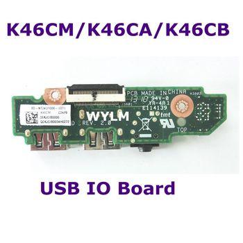 Para ASUS K46C S46C A46C K46CM K46CA ordenador portátil Audio USB IO tarjeta de interfaz placa JACK placa USB IO Audio Board envío Gratis