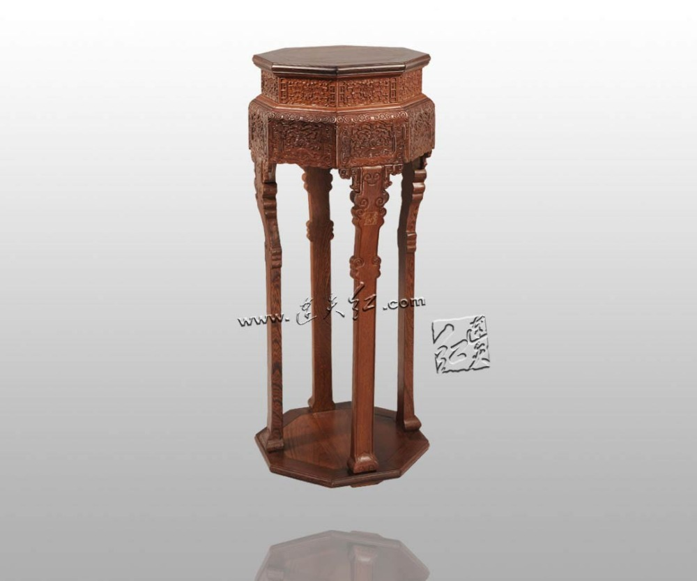 Precise Restoration of The Palace Museum Collection Chinese Classical Furniture Burma Rosewood Incense Stand Carving handicraft small square wooden stool carved jade beads on the edge of the bench burma redwood classical furniture kids chair china rosewood