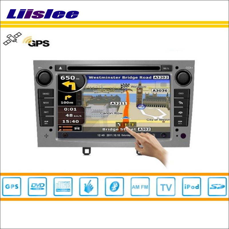 Liislee Car Android Multimedia For Peugeot 308 RCZ 2008 2013 Radio DVD Player GPS Nav Map