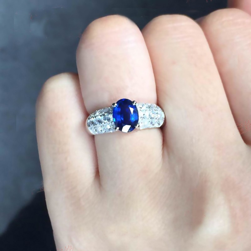 Wedding Ring Engagement Ring Birthday Gemstone Ring Kyanite  Ring Gift Design N0- RKY-011 Kyanite Silver Ring With White Topaz