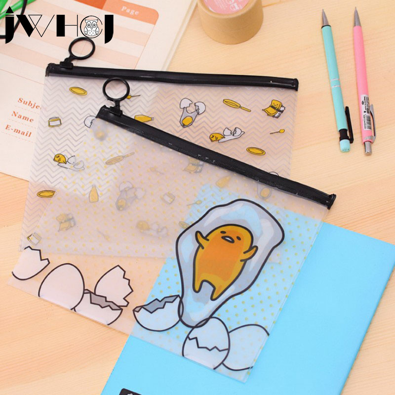 1x Women Portable lovely PVC waterproof Multifunction Zipper document envelope Cosmetic Bag data Case School Supplies stationery