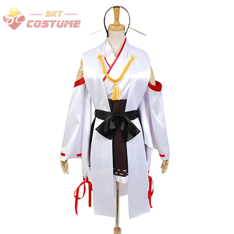 Здесь продается  Kantai Collection KanColle Women Battleship Kongo Uniform Top Skirt Custom Made Anime Cosplay Costumes Halloween Full Set  Одежда и аксессуары