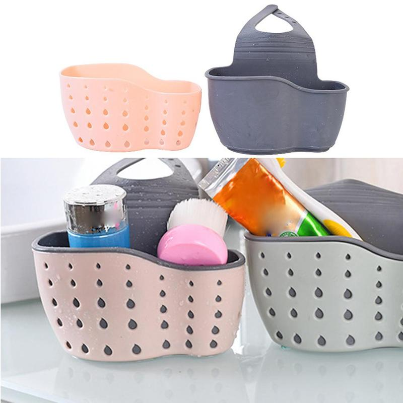 Suction Cup Kitchen Organizer Sink Shelf Soap Sponge Drain Rack Bathroom Holder Kitchen Storage kitchen Sink Accessories Wash