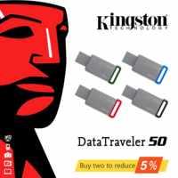 Edelstahl DT50 Original Kingston USB 3.1 USB-Sticks 32GB 64 GB 128GB U Disk USB Pen Drive stick 16 32 64 GB Pendrives