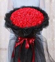 99 шт. мини пена Искусственный цветок розы Букет Многоцветный Роза Валентина свадебное украшение цветок скрапбук поддельные розы