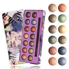 Personality Graffiti 14 Color Natural Matte Eye Shadow Palette Shiny Shadow Powder Smokey Nude Makeup Portable Brush Cosmetic serseul portable 78 color cosmetic makeup eye shadow blusher palette with smudger