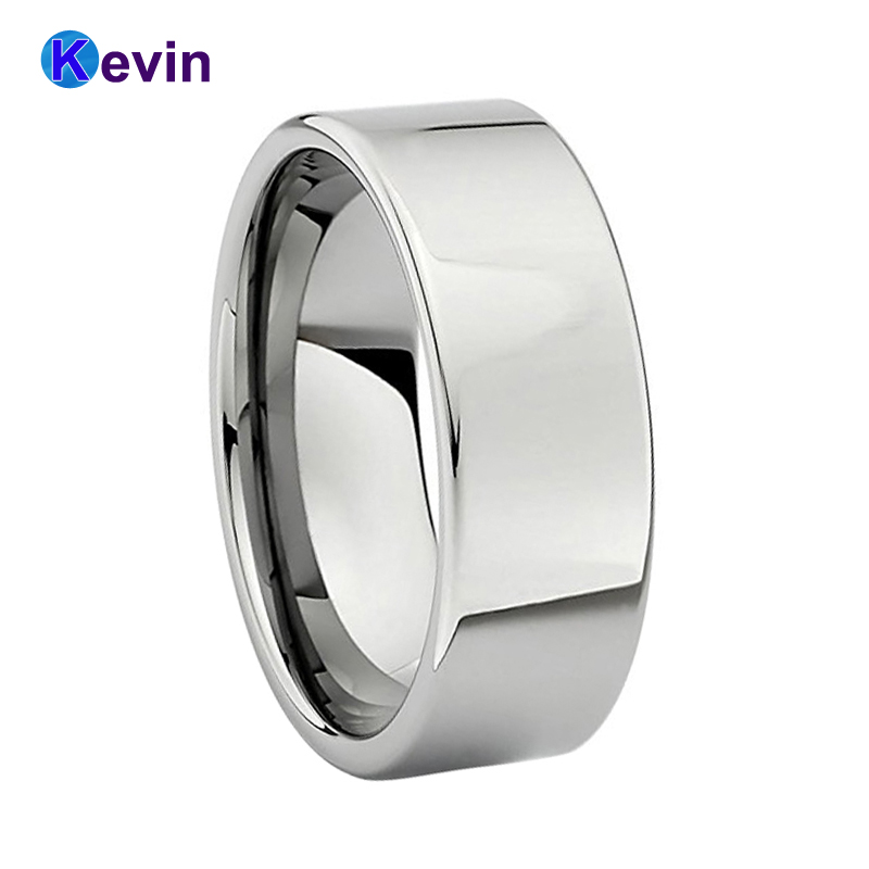 Silver Wedding Band For Women Men Tungsten Ring With High Polish And Comfort Fit