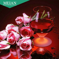 Meian 3D DIY Diamond Embroidery 5D Diamond Painting Mosaic Wine Rose Flower Full Rhinestone Needlework Crafts