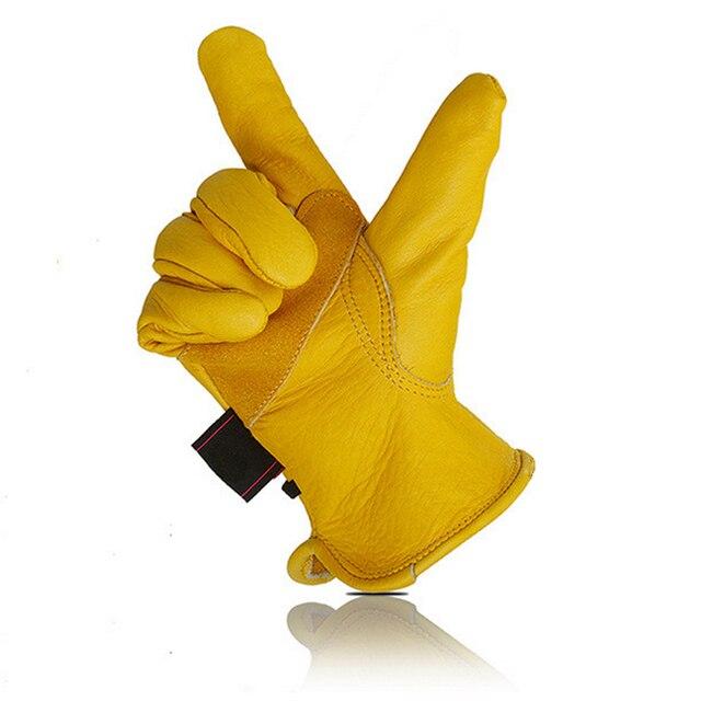 安全手袋作業溶接暖かい手袋保護自転車ガーデンスポーツモトビルディング牛革耐摩耗性手袋