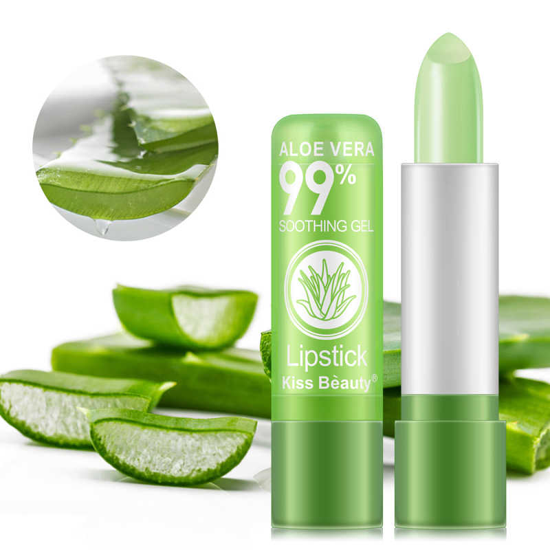 Feuchtigkeit Make-Up Lip Balm Aloe Vera Natürliche Lipbalm Temperatur Geändert Farbe Lippenstift Lang Anhaltende Nähren Lippen Pflege TSLM2