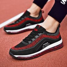 цены Rommedal men air-cushion sneakers shockproof lace-up flat sport shoes comfortable breathable male casual shoes air mesh shoes