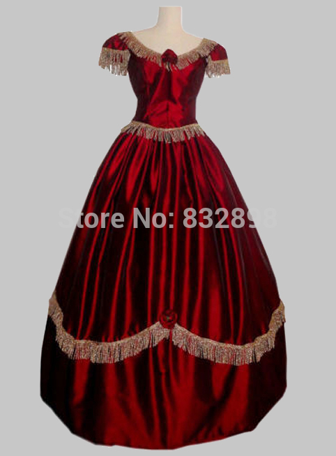 New Arrival Direct Selling Civil War Style Short Sleeves Ball Gown Dress