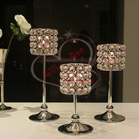 Free Shipping 3pcs Lot Glass Tealight Candle Holders Wedding Ceremony Centerpiece
