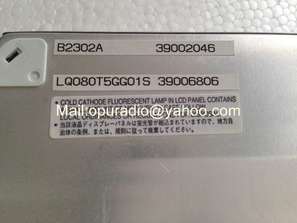Высокое качество LQ080T5GG01B LQ080T5GG01S 8 дюймов ЖК-дисплей экран дисплея для chrysler Acur автомобильное аудио-радио навигационные системы