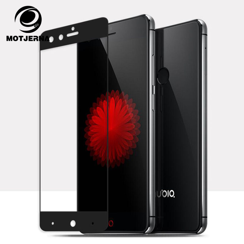 Motjerna Full Cover Tempered Glass For ZTE Nubia Z11 Z17 Mini Z11 Max Blade A2 Plus Colorful Screen Protector Film