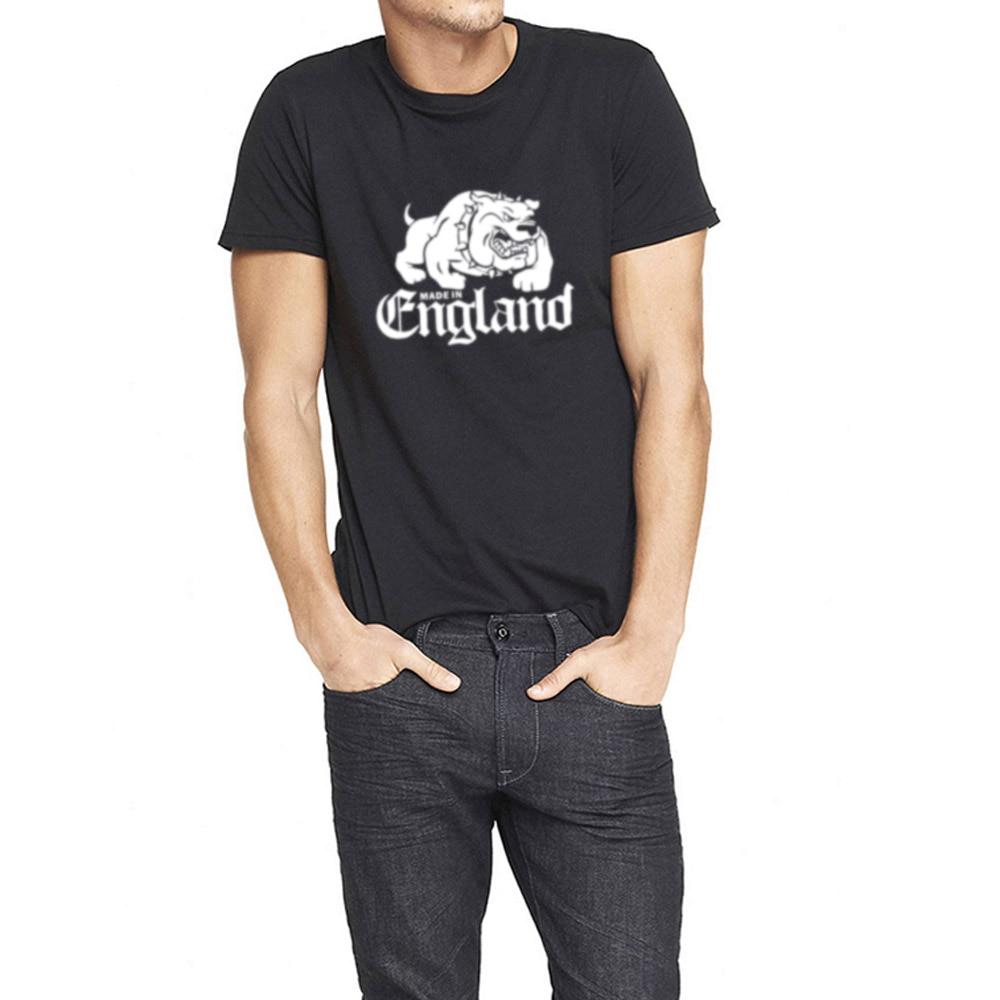 Mens made in england bulldog casual 80 39 s t shirts men tee for Mens casual tee shirts