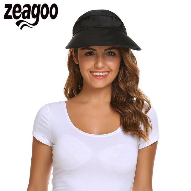 Sports Visor Hat Colors Cap UV Sun Visor Hats Summer Hats Women Protection  Folding Wide Brim Gorro Bonnet Enfant Chapeu De Praia 87402fd2a90