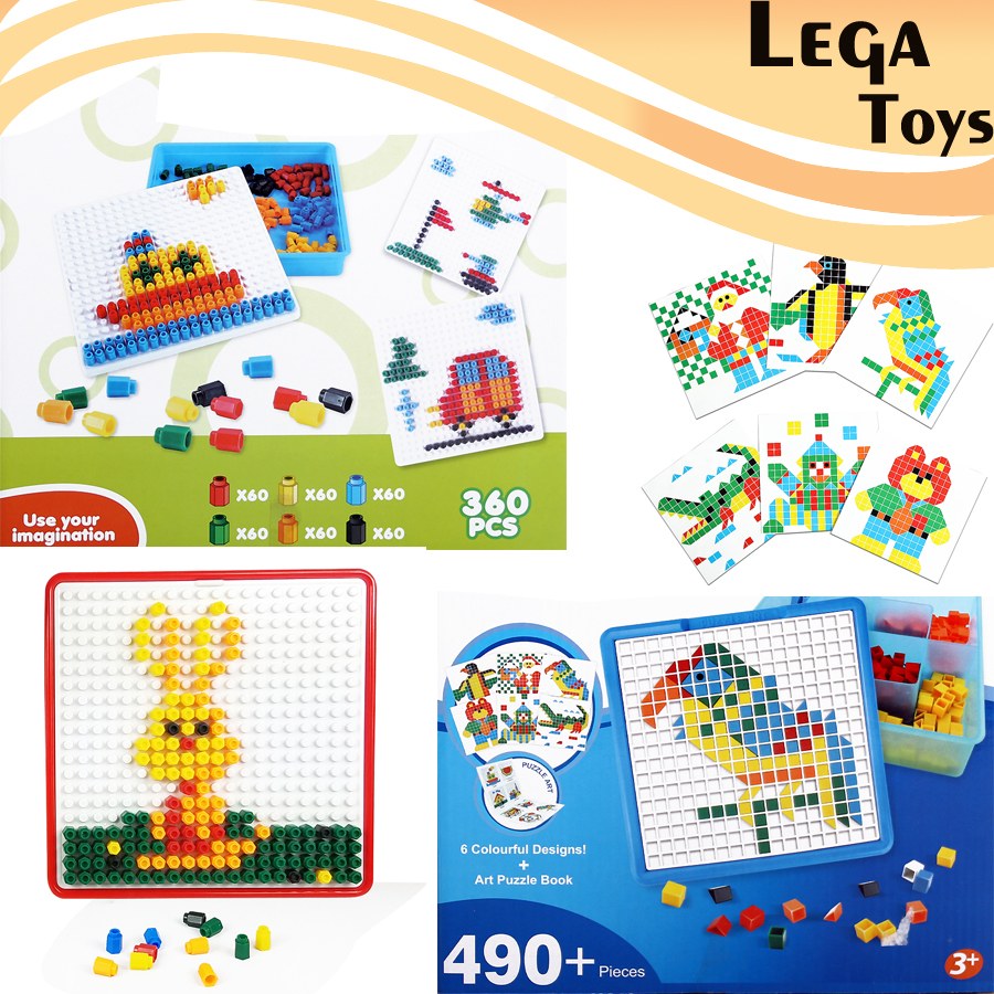 Mosaic Puzzle Pegboard Construction Building Kits Jigsaw Puzzle Game Puzzle Art Educationa Toys for kids 2 styles for choose