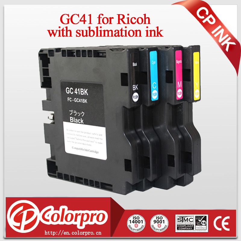 2019 stort salg nå! GC41 GC 41 sublimerings blekkpatron av høy kvalitet for Ricoh GC41 for Ricoh Aficio SG 3110DN SG7100DN