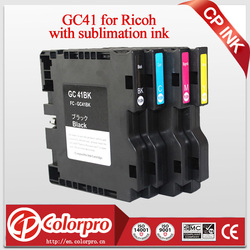 2019 grandes ventes maintenant!! Haute qualité GC41 GC 41 sublimation cartouche d'encre pour Ricoh GC41 pour Ricoh Aficio SG 3110DN SG7100DN