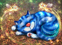 New 5d diy diamond painting cross stitch cartoon cat round mosaic rhinestone pictures of crystals diamond embroidery patchwork