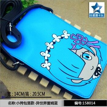 Аниме сумка вертикальная голубая Жить в альтернативном мире 1