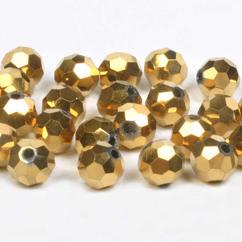 4 6 8 MM austriackie kryształowe luźne koraliki okrągłe piłka nożna koraliki do naszyjnik DIY tworzenia biżuterii znalezienie akcesoria