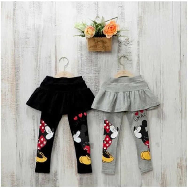 เด็กทารกฤดูใบไม้ร่วงฤดูหนาว Leggings เด็กวัยหัดเดินเด็กน่ารัก Mickey Minnie Mouse กระโปรงกางเกง 2-7T