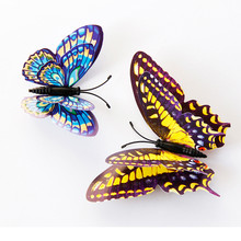 12pcs 3D Butterfly Fashion Design Home Fridge Decal Art Wall Stickers Kids Bedroom Magnetic