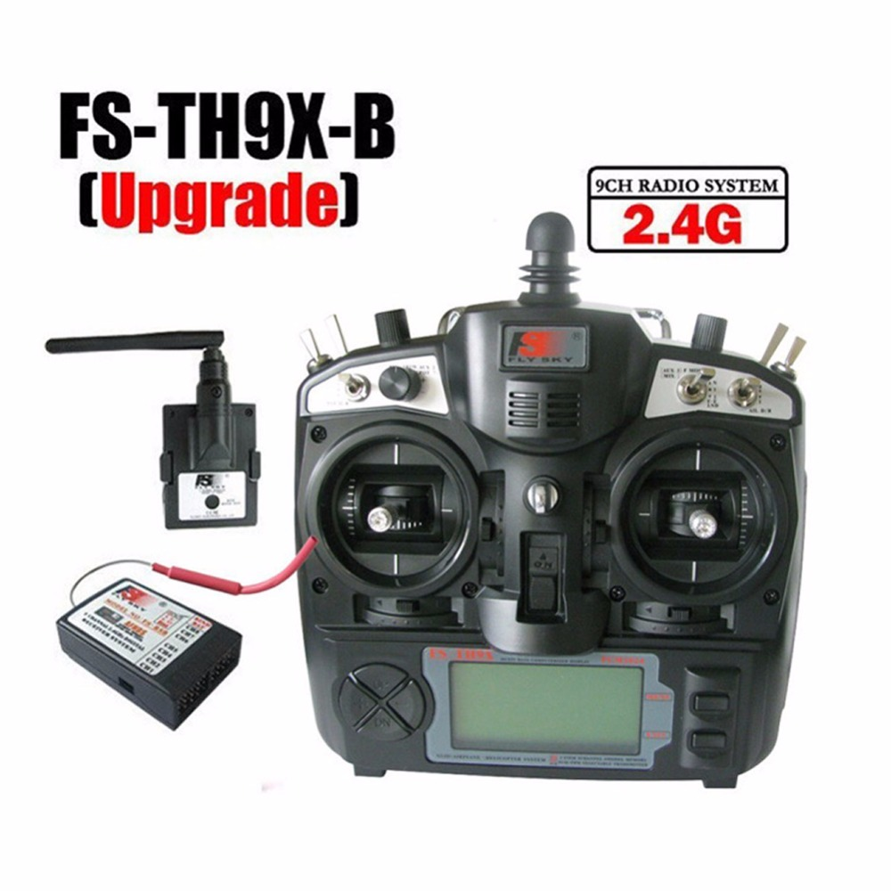 Flysky FS-TH9X TH9XB TX RX 2.4G 9ch 9 Channels System FS Remote Control Rc Transmitter Receiver LED Screen For RC Helicopter led телевизор panasonic tx 43dr300zz