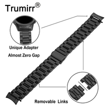 Zero Gap Curved Stainless Steel Watchband + Link Remover for Samsung Galaxy Watch 42mm SM R810/SM R815 Band Wrist Strap Bracelet