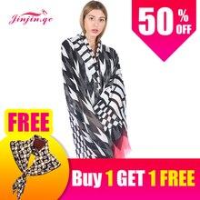 Jinjin.QC Fashion Women Winter Scarf Thin Cashmere Shawls and Scarves Echarpe Foulard Female Jersey Hijab Bandana