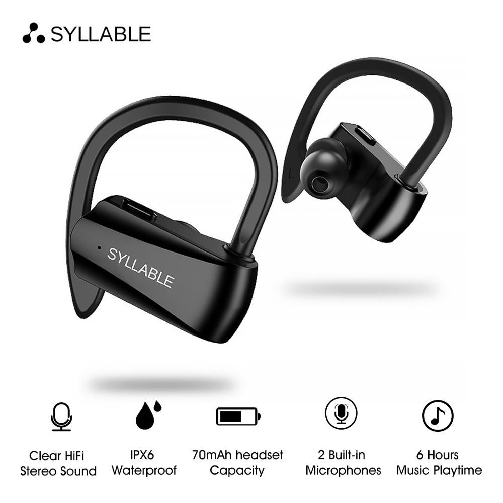 SYLLABLE D15 bluetooth V5.0 earphone noise reduction bluetooth SYLLABLE headset for mobile phone wireless sports bass earphone rockspace eb30
