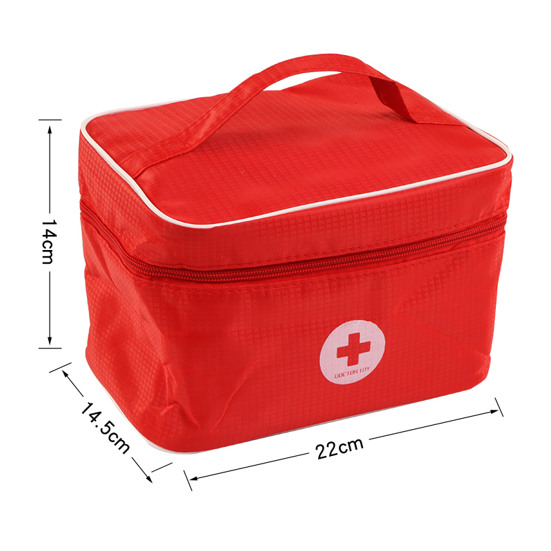 Toys for Children Girl Boy Kids Pretend Play Wood Doctor Toys Red Medical Kit Dentist Medicine Box Sets Cloth Bag Packing Games