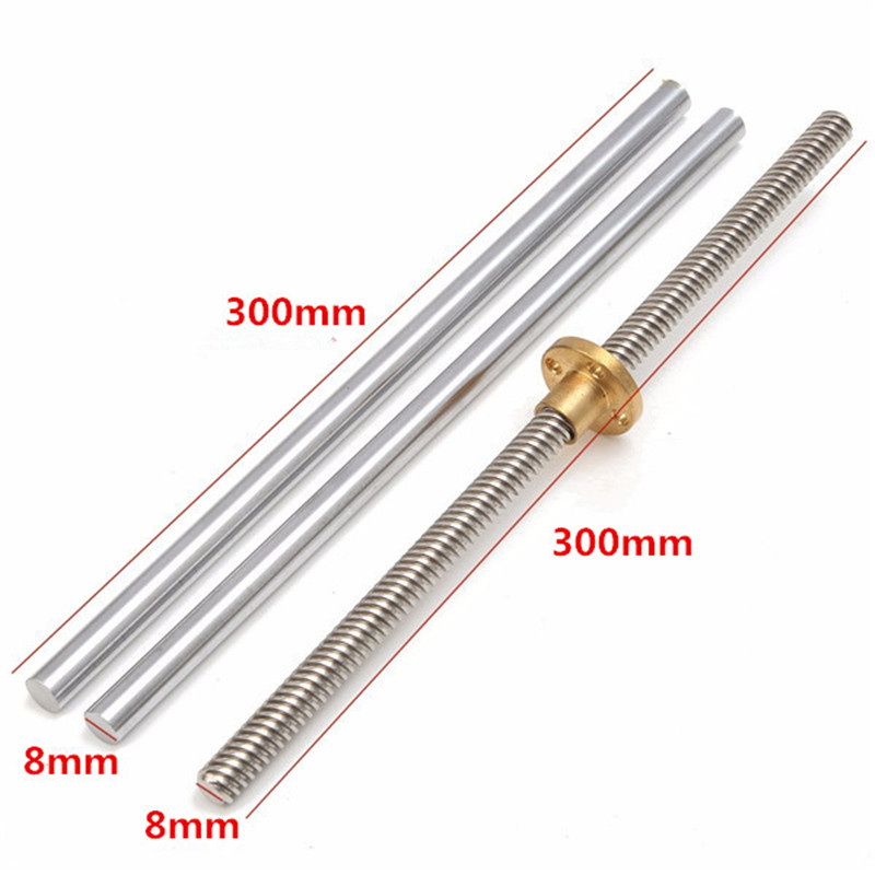 SULEVE New 15pcs 300mm CNC Parts Steel OpticalAxis Guide Bearing Housings Rail Shaft Support Lead Screws Rod Slide Bushing Set-in Linear Guides from Home Improvement    3
