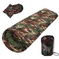 Nouvelle vente de haute qualité coton Camping sac de couchage, 15 ~ 5 degrés, style enveloppe, armée ou militaire ou camouflage sacs de couchage