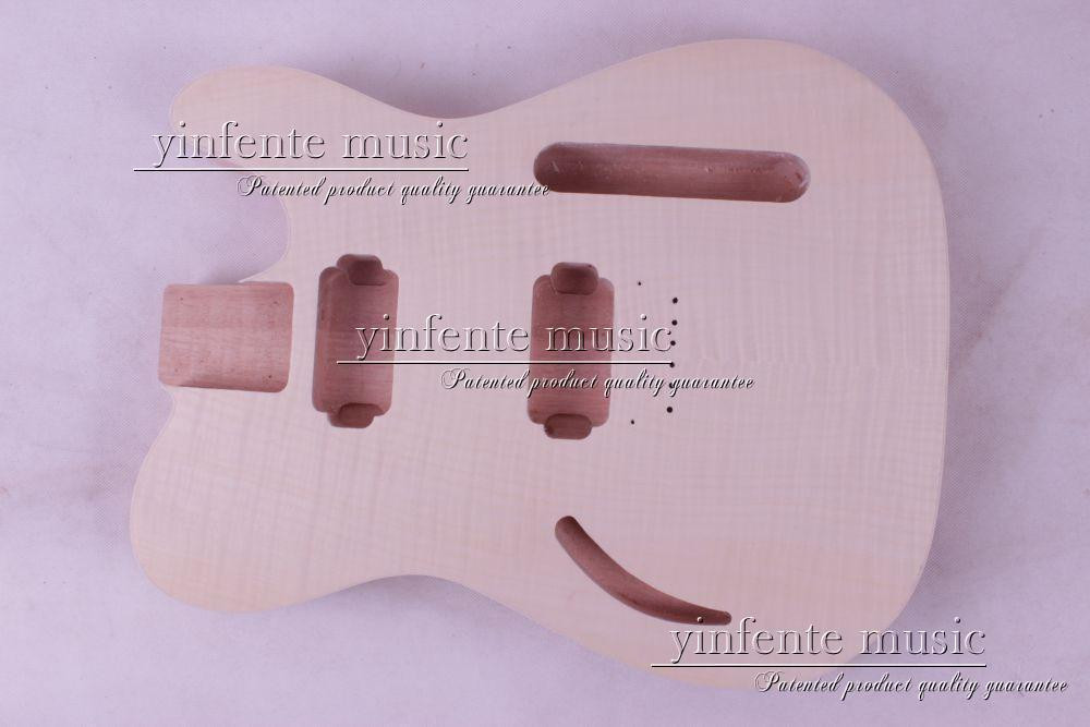 1 pcs Unfinished electric guitar body mahogany made maple wood top купить