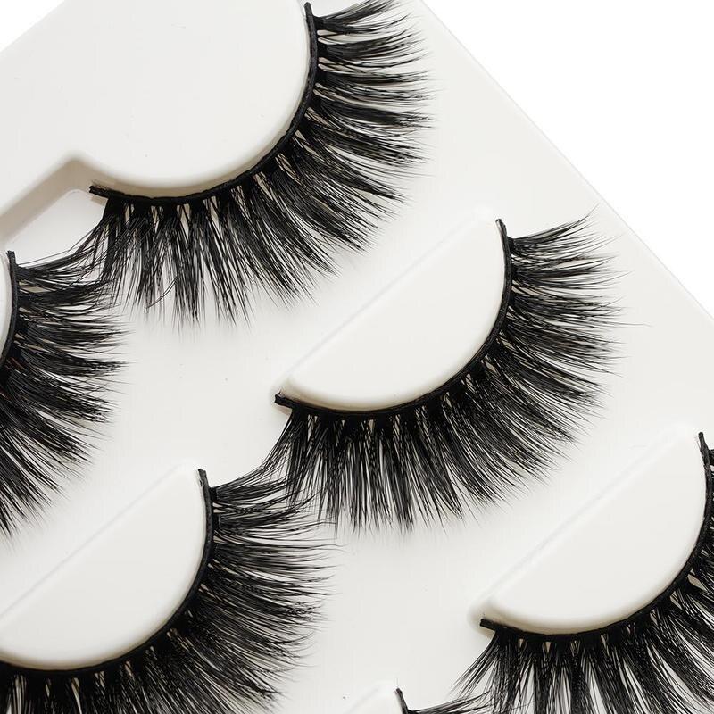 3 Pairs Long Thick Fake Eyelashes Extensions Beauty Hair Natural Long Thick 3D Lash Maquiagem Fake Individual Eyelashes Make Up