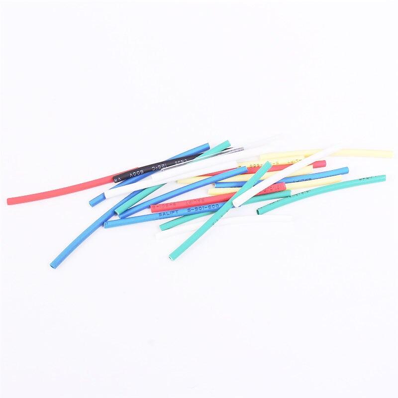 140 pièces 7 couleurs 1.0mm thermorétractable Tube sac 20 pièces chaque polyoléfines ignifuge Wrap manchon Kit assorti 1mm thermorétractable Tube