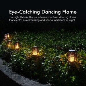 Image 5 - 4 חבילות שמש לפיד אור עמיד למים חיצוני גן מנורת חצר נוף ריקוד הבהוב להבה 96 נוריות אורות דקורטיביים