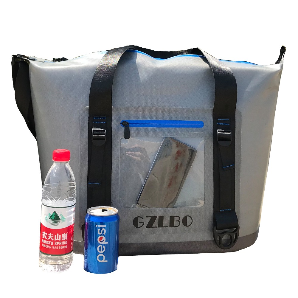 GZLBO New design grey cooler bag 20cans and 30cans TWO Size Beer Wine Lunch Portable Cooler bags